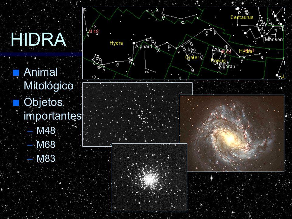 HIDRA Animal Mitológico Animal Mitológico Objetos importantes Objetos importantes –M48 –M68 –M83