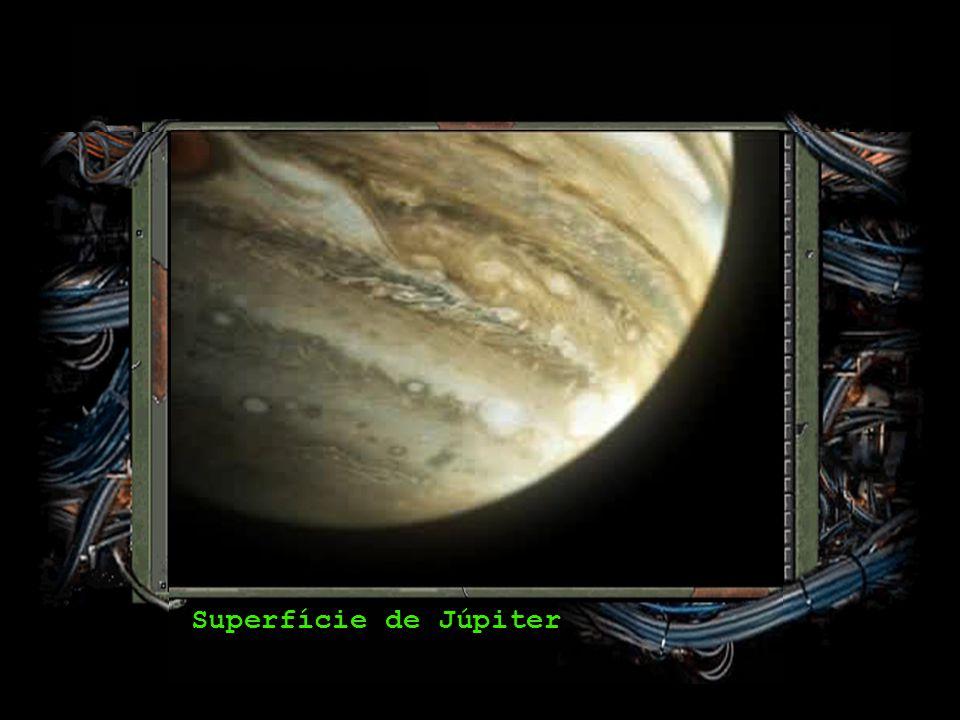 Rotação (dia): 9,92 horas Translação (ano): 12 anos Diâmetro: 142 984 km Temperatura: -148ºC Luas: 63 (confirmadas) Júpiter Composição Química: Hidrog