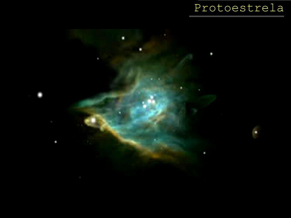 Por que uma protoestrela se forma? O que desencadeia a contração? Onda de choque da explosão de uma supernova ou Nuvem aumenta a densidade ao ser pert