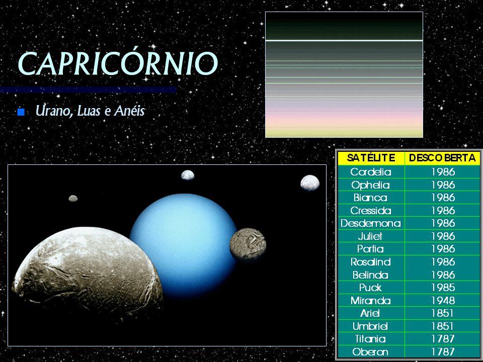 CAPRICÓRNIO Urano, Luas e Anéis Urano, Luas e Anéis
