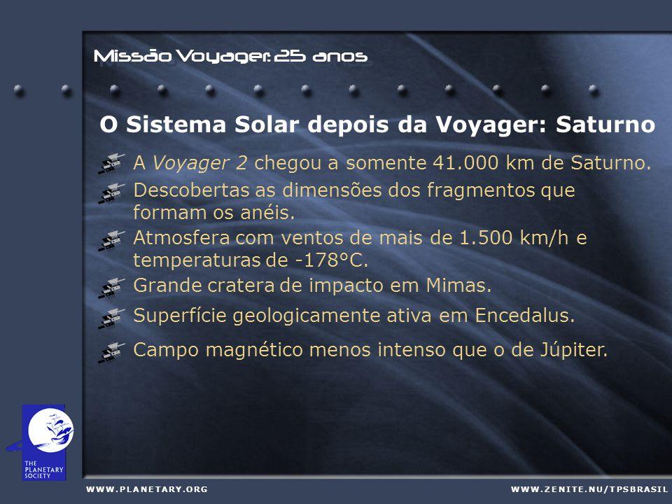 Missão Voyager: 25 anos W W W. P L A N E T A R Y.
