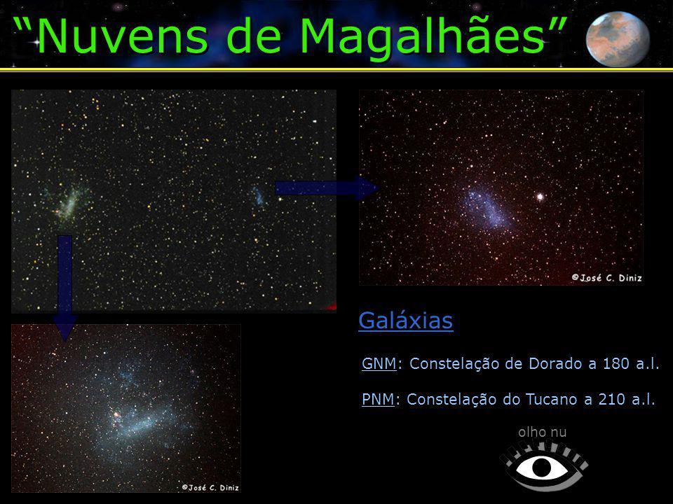 Nuvens de Magalhães olho nu GNM: Constelação de Dorado a 180 a.l.