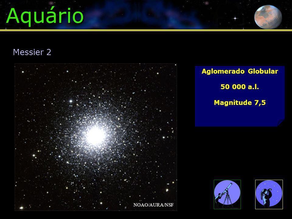 Aquário Aglomerado Globular 50 000 a.l. Magnitude 7,5 Messier 2 NOAO/AURA/NSF