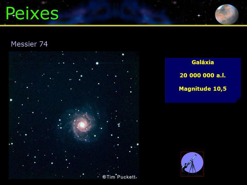 Peixes Galáxia 20 000 000 a.l. Magnitude 10,5 Messier 74