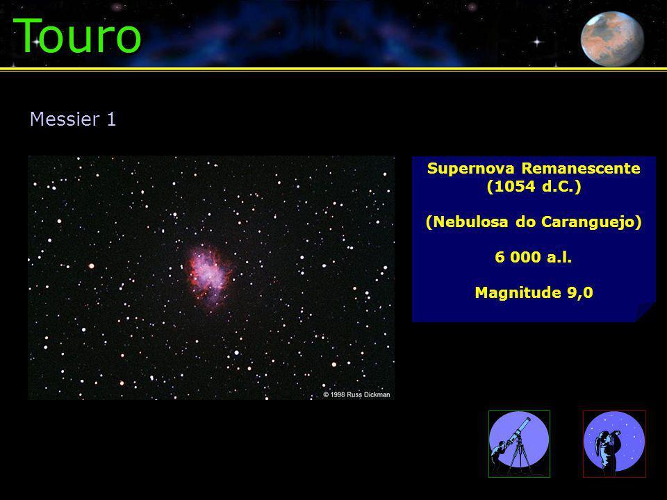 Touro Supernova Remanescente (1054 d.C.) (Nebulosa do Caranguejo) 6 000 a.l.