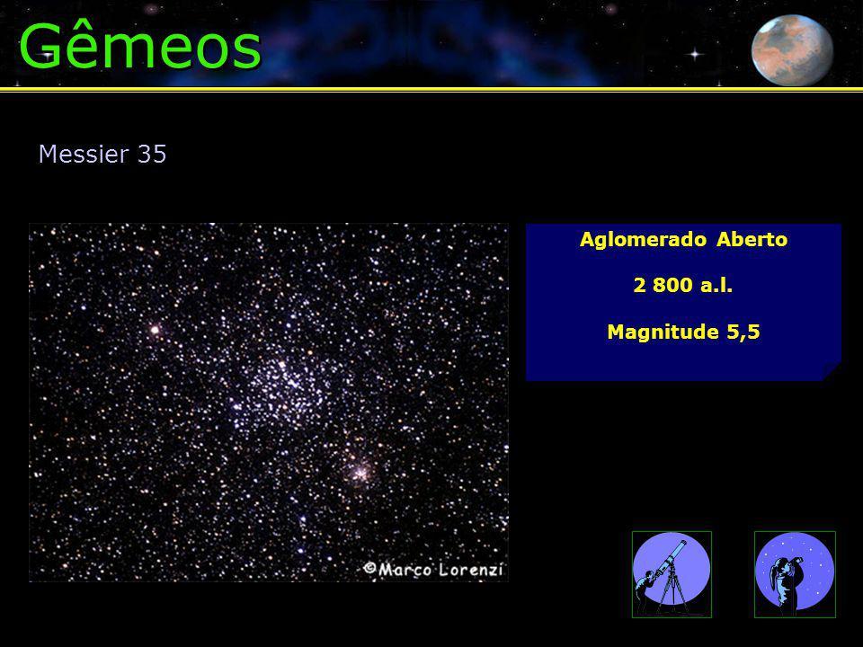 Gêmeos Aglomerado Aberto 2 800 a.l. Magnitude 5,5 Messier 35