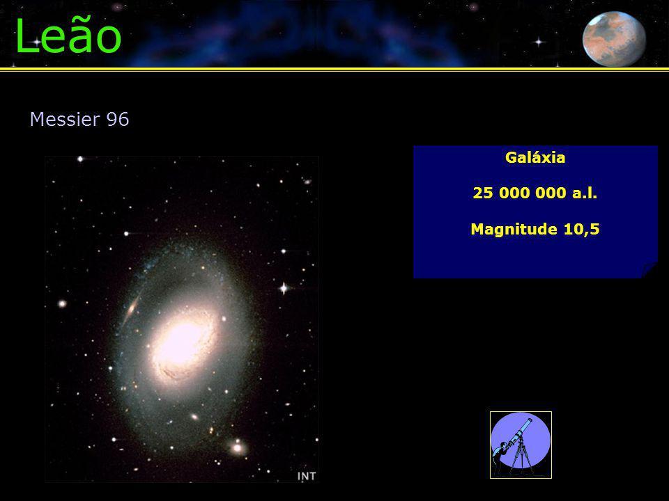 Leão Galáxia 25 000 000 a.l. Magnitude 10,5 Messier 96