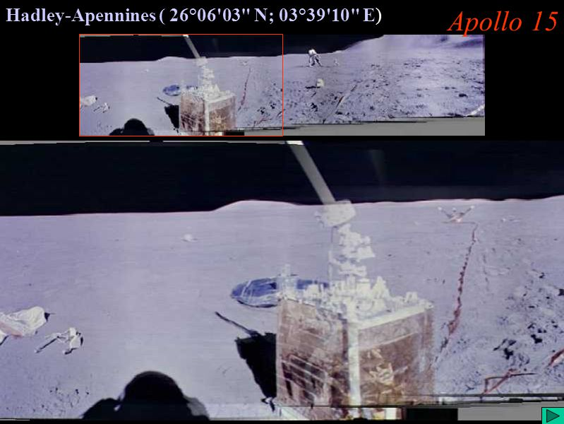 Apollo 15 (II) Apollo 15 Hadley-Apennines ( 26°06 03 N; 03°39 10 E)