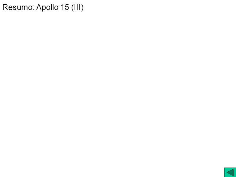 Resumo: Apollo 15 (III)