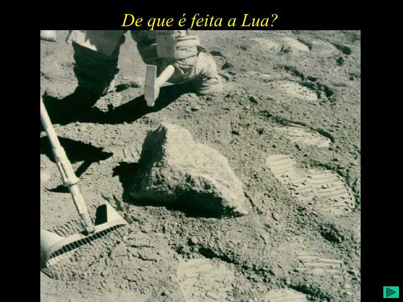 De que é feita a Lua?