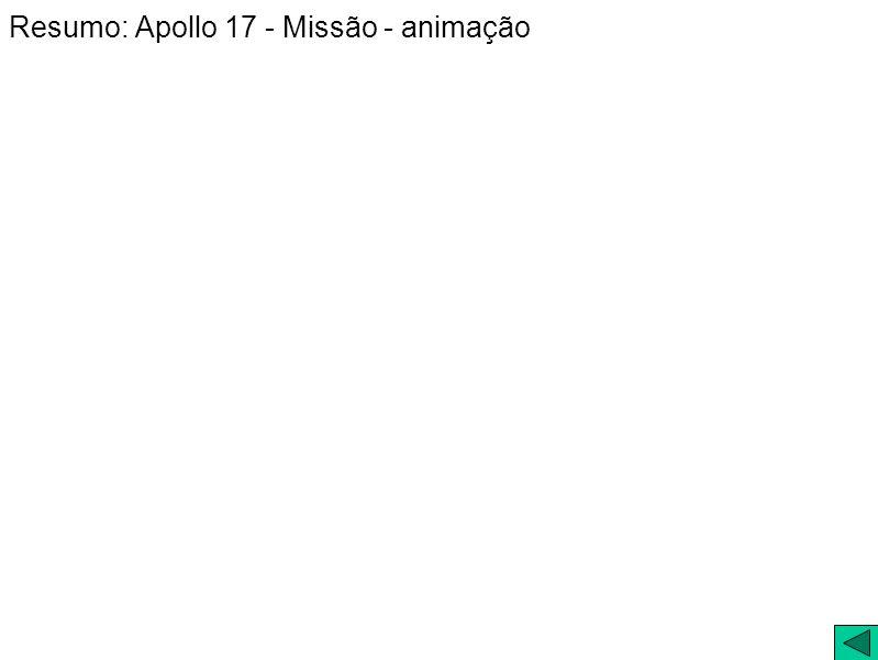 Resumo: Apollo 17 - Missão - animação