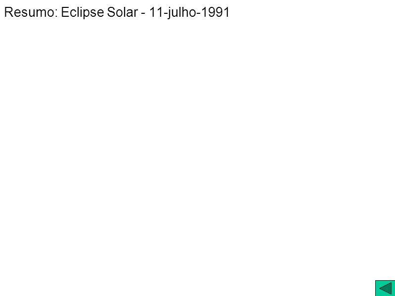 Resumo: Eclipse Solar - 11-julho-1991