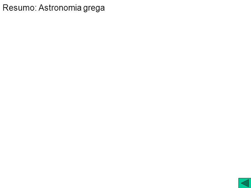 Resumo: Astronomia grega