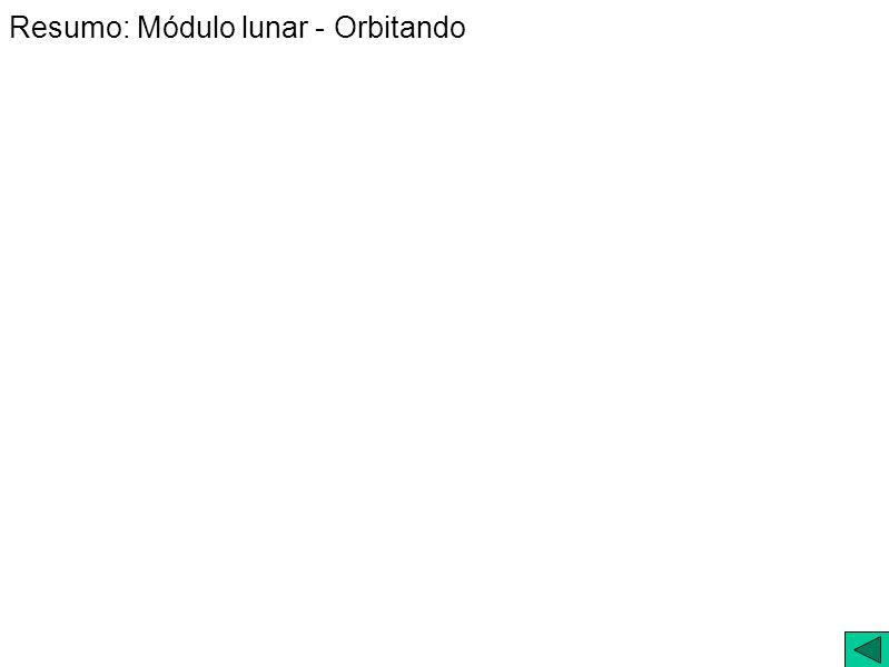 Resumo: Módulo lunar - Orbitando