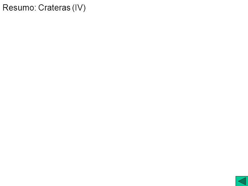 Resumo: Crateras (IV)