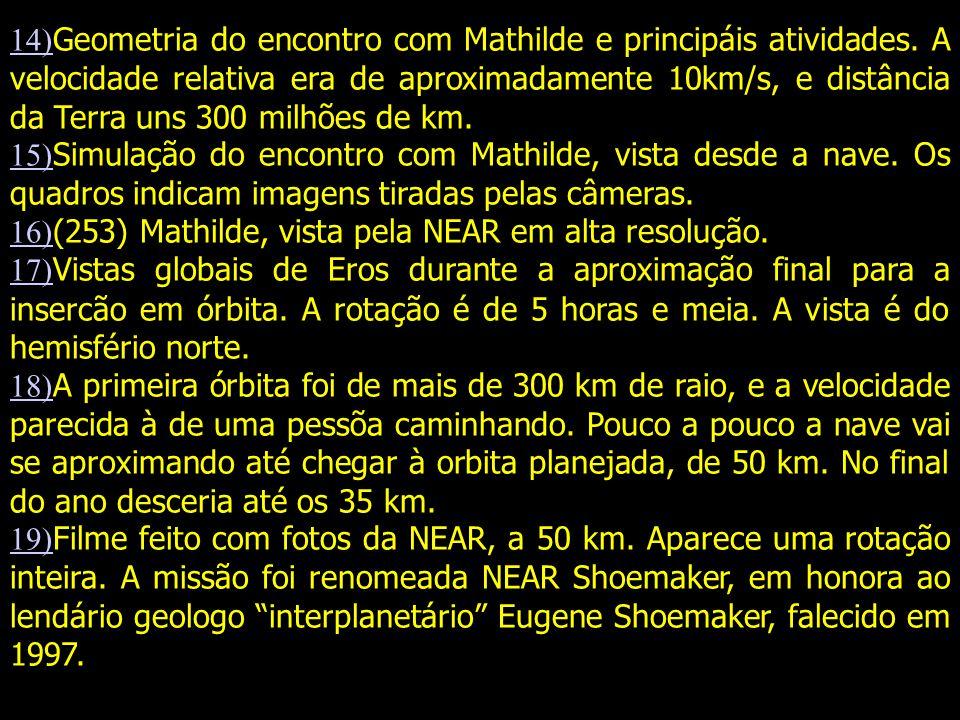 14) 14) Geometria do encontro com Mathilde e principáis atividades.