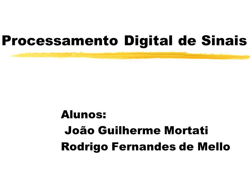 Processamento Digital de Sinais Alunos: João Guilherme Mortati Rodrigo Fernandes de Mello