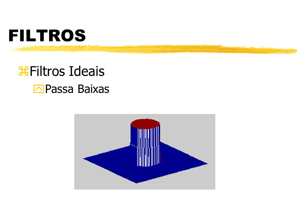 FILTROS zFiltros ideais yPassa Baixas yPassa Altas