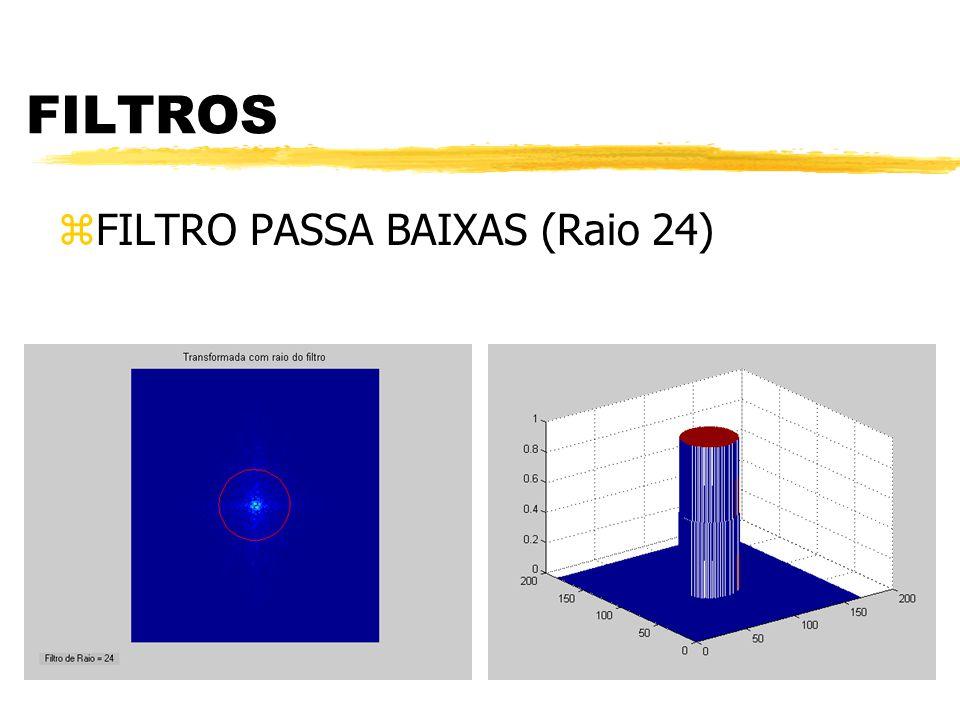 FILTROS zFILTRO PASSA BAIXAS Figura Original Figura Filtrada