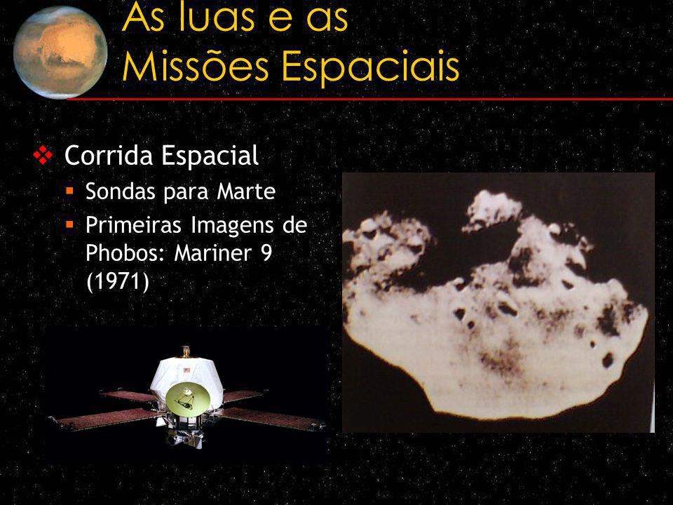 As luas e as Missões Espaciais Corrida Espacial Sondas para Marte Primeiras Imagens de Phobos: Mariner 9 (1971)