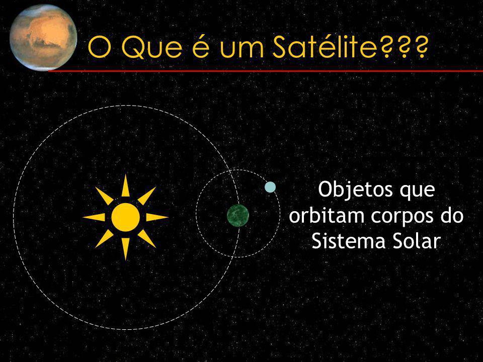 O Que é um Satélite??? Naturais Artificiais (transmissão de dados)