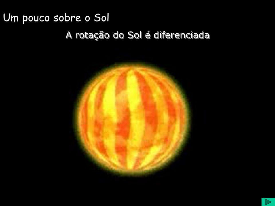 A rotação do Sol é diferenciada