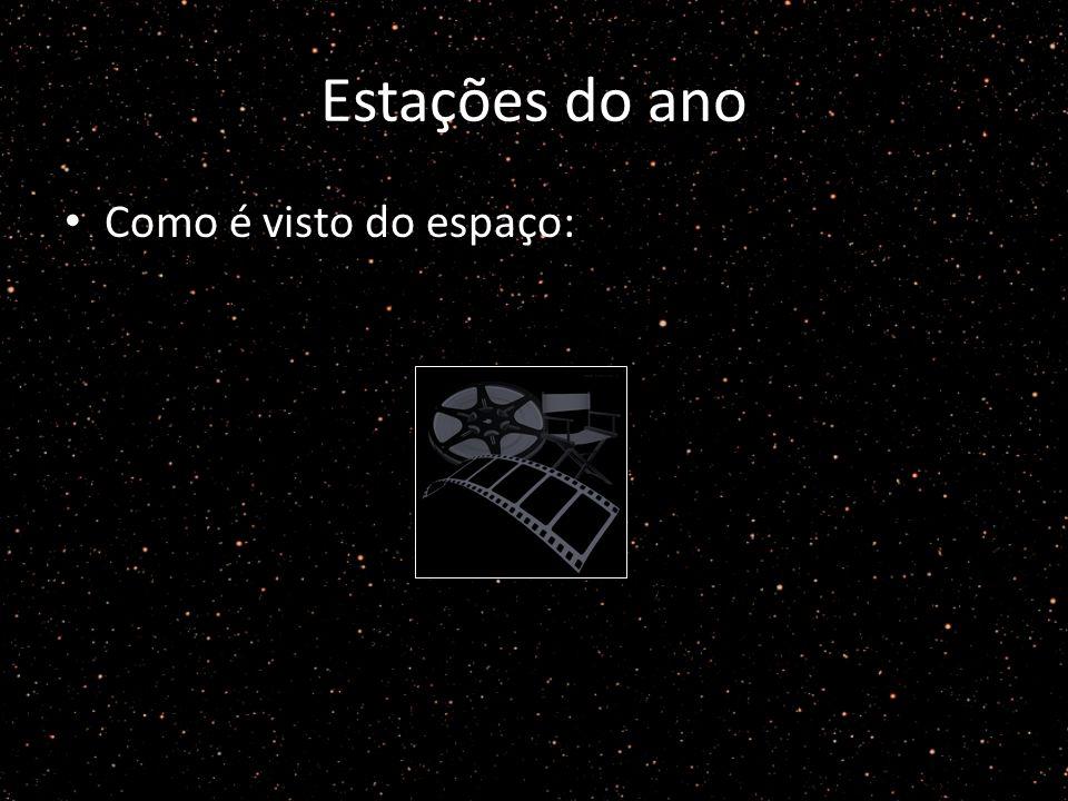 Estações do ano Como é visto do espaço: