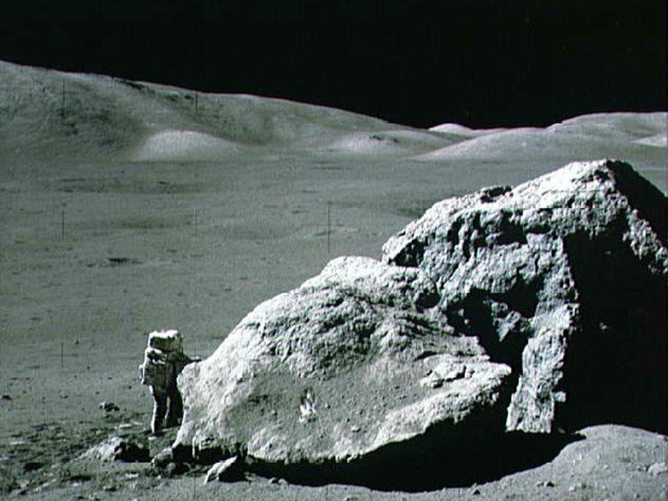 Amostras da Lua trazidas aos laboratórios da Terra.