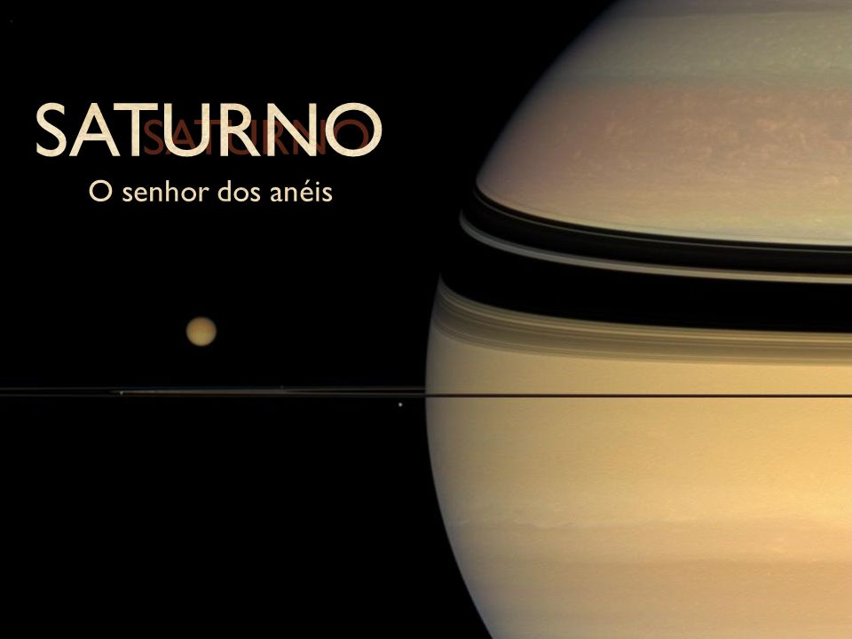 As Luas de Saturno - Titã Titã é a segunda maior lua do Sistema Solar, com atmosfera enevoada e chuva orgânica.