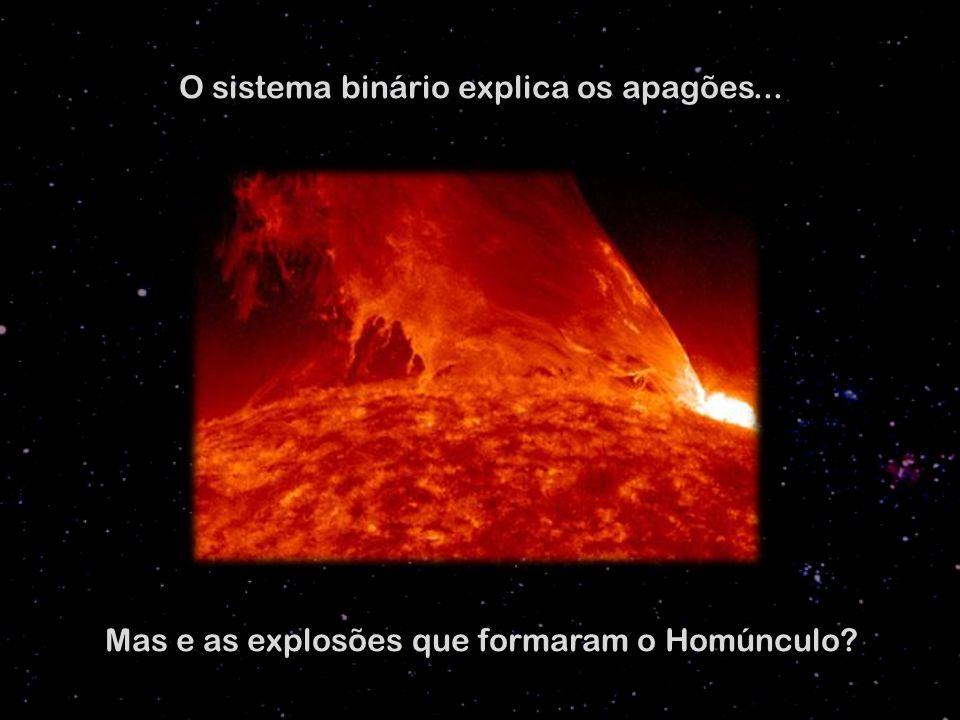 O sistema binário explica os apagões... Mas e as explosões que formaram o Homúnculo?