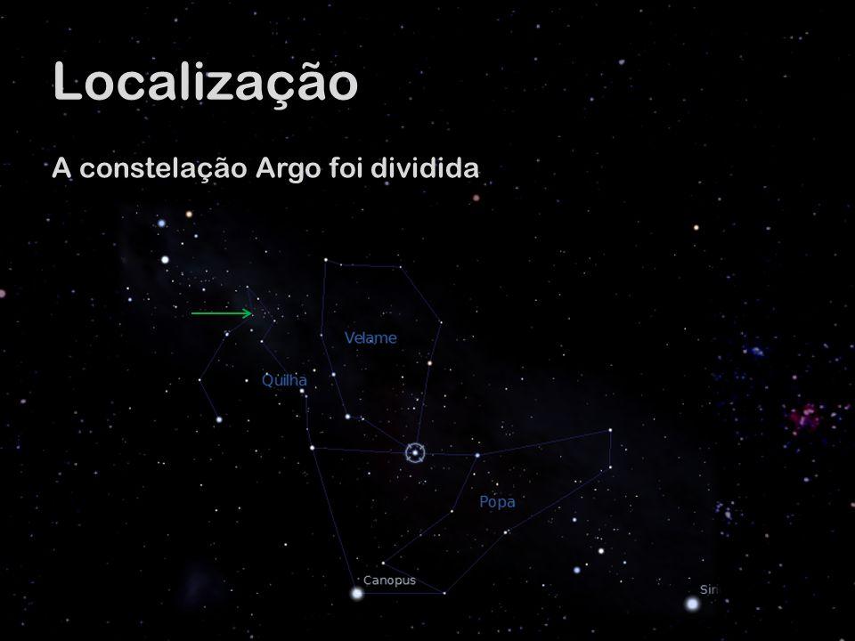 Localização A constelação Argo foi dividida