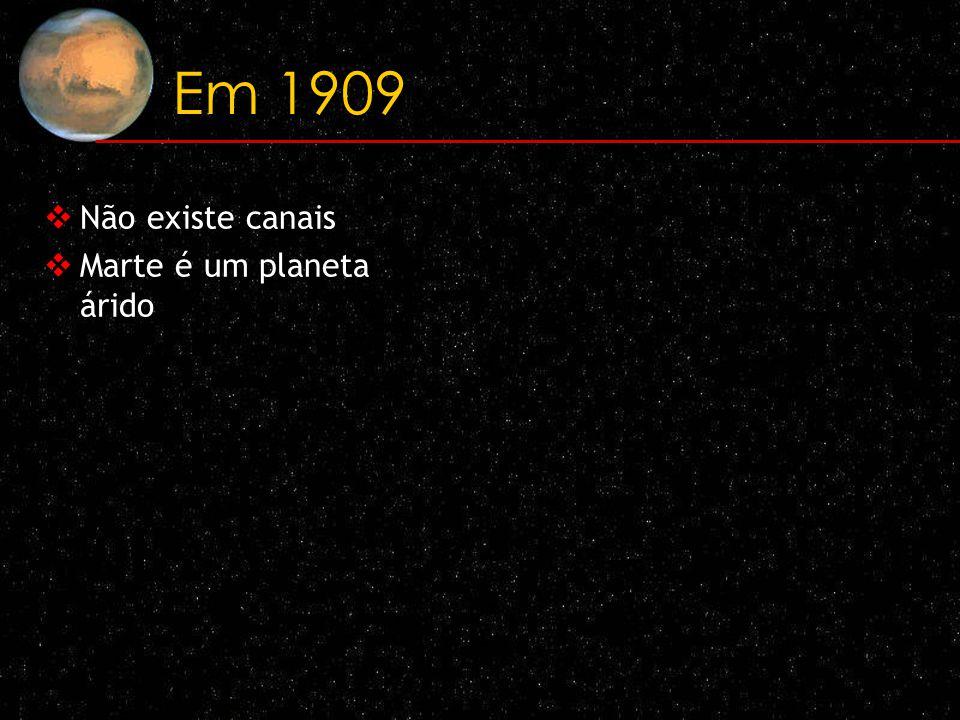 Em 1909 Não existe canais Marte é um planeta árido