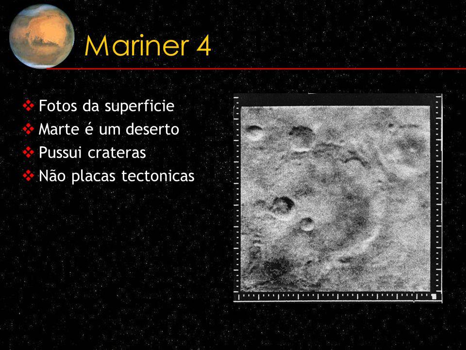Mariner 4 Fotos da superficie Marte é um deserto Pussui crateras Não placas tectonicas