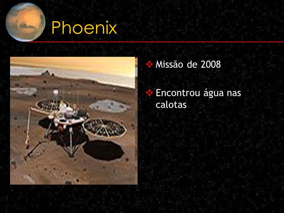 Phoenix Missão de 2008 Encontrou água nas calotas