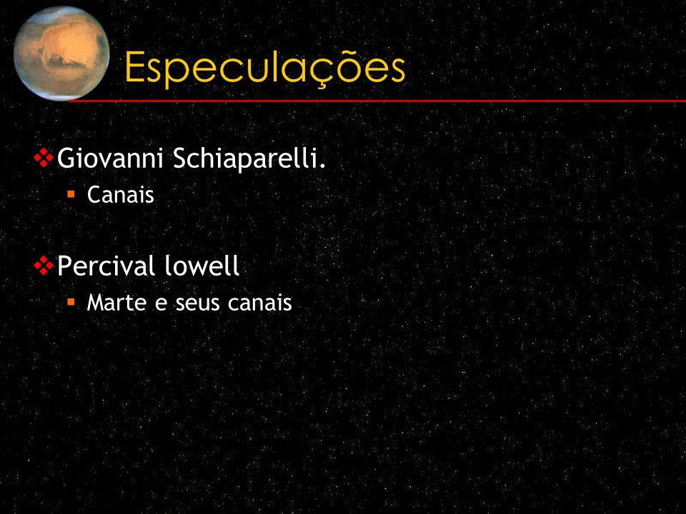 Especulações Giovanni Schiaparelli. Canais Percival lowell Marte e seus canais