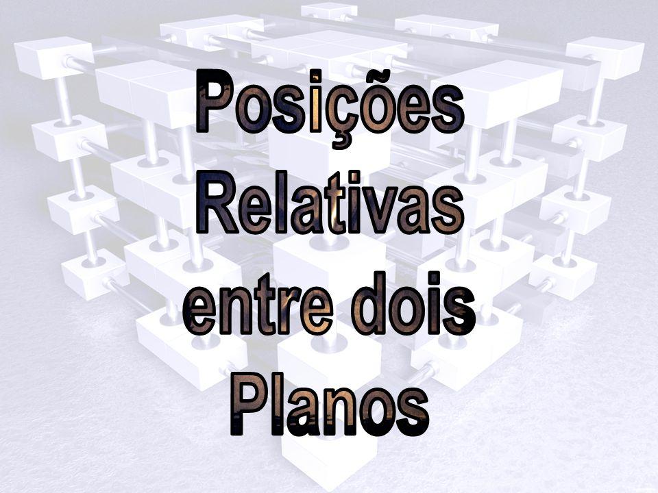 Planos Concorrentes: Dois planos dizem-se concorrentes se tiverem uma e uma só recta em comum.