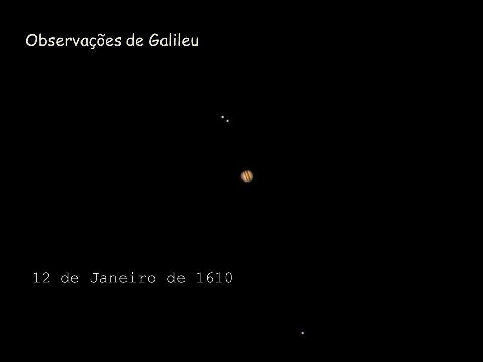 Observações de Galileu 12 de Janeiro de 1610