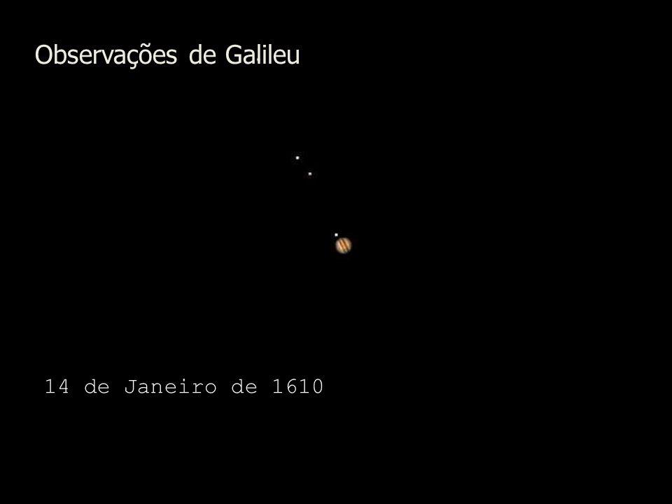 Observações de Galileu 14 de Janeiro de 1610