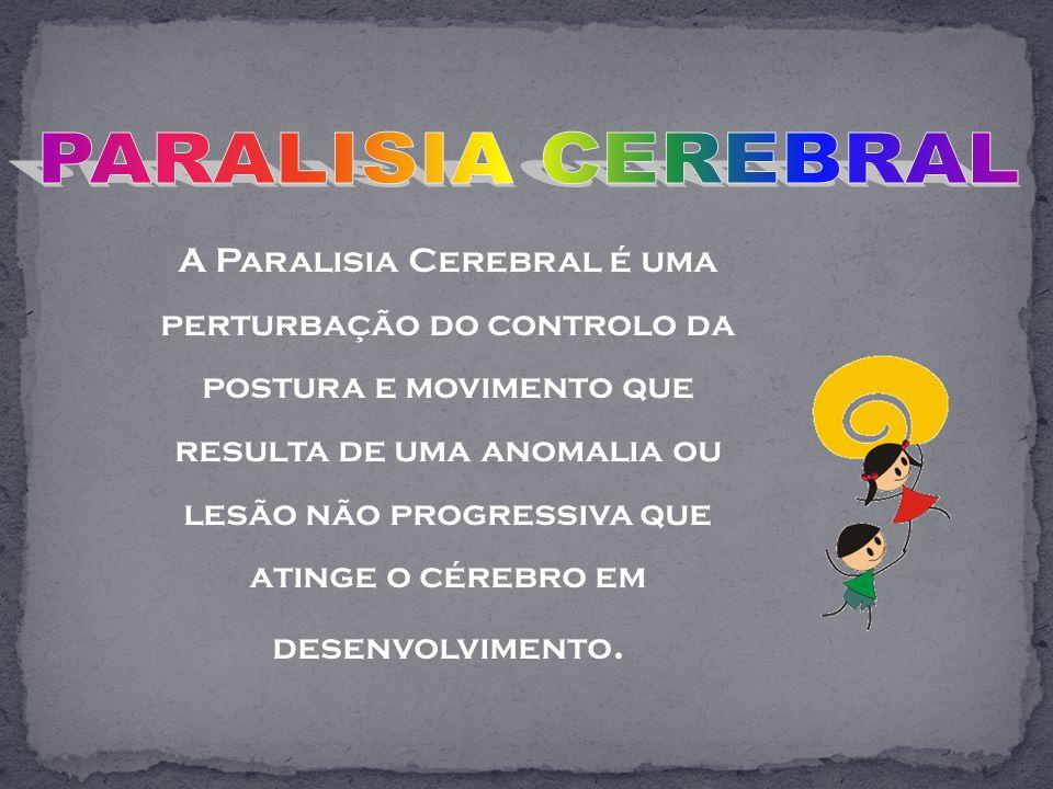 A Paralisia Cerebral é uma perturbação do controlo da postura e movimento que resulta de uma anomalia ou lesão não progressiva que atinge o cérebro em desenvolvimento.