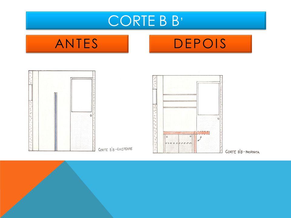 CORTE B B ANTES DEPOIS