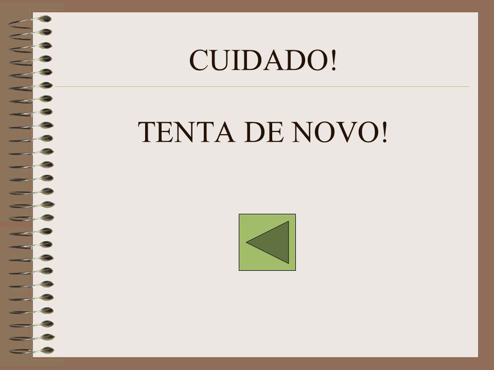 CUIDADO! TENTA DE NOVO!