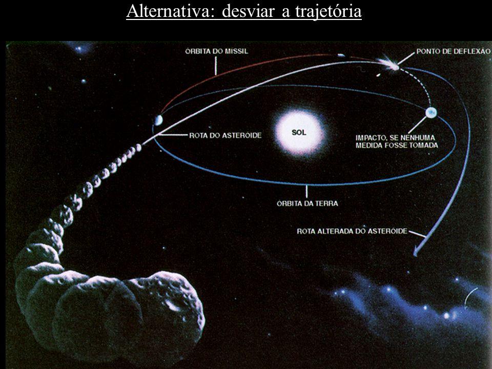 Alternativa: desviar a trajetória
