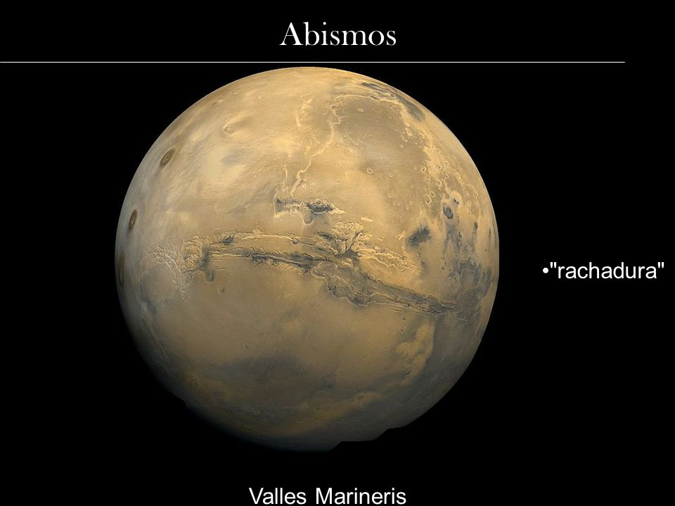 Abismos Valles Marineris