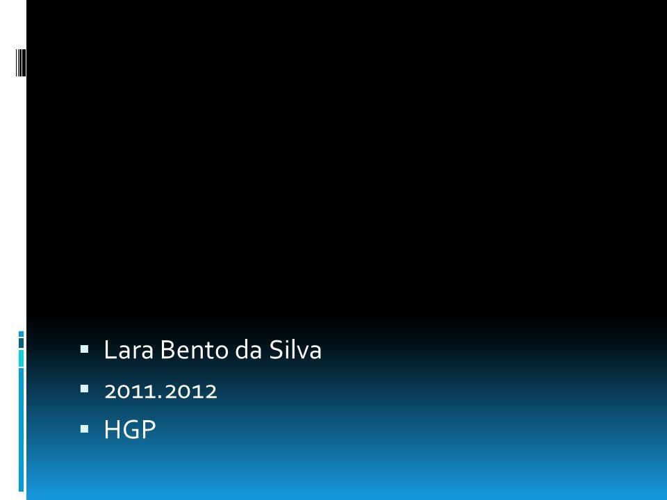 Lara Bento da Silva 2011.2012 HGP
