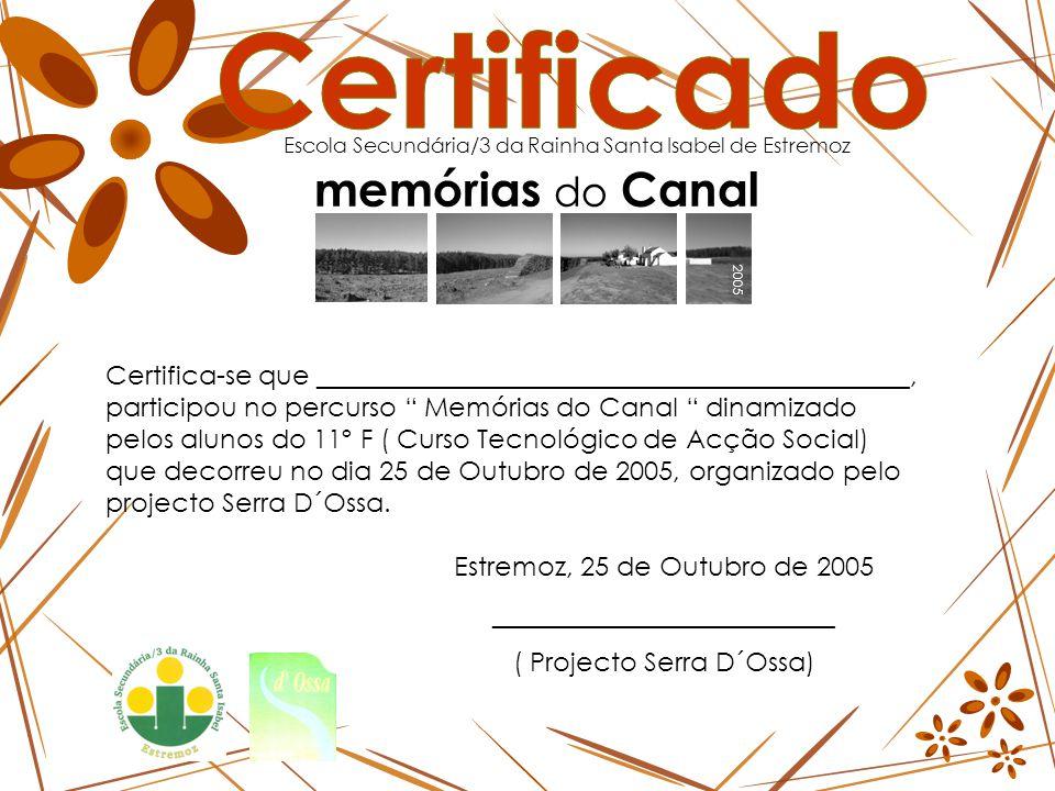 2005 memórias do Canal ESTEVA 2005 memórias do Canal ESTEVA