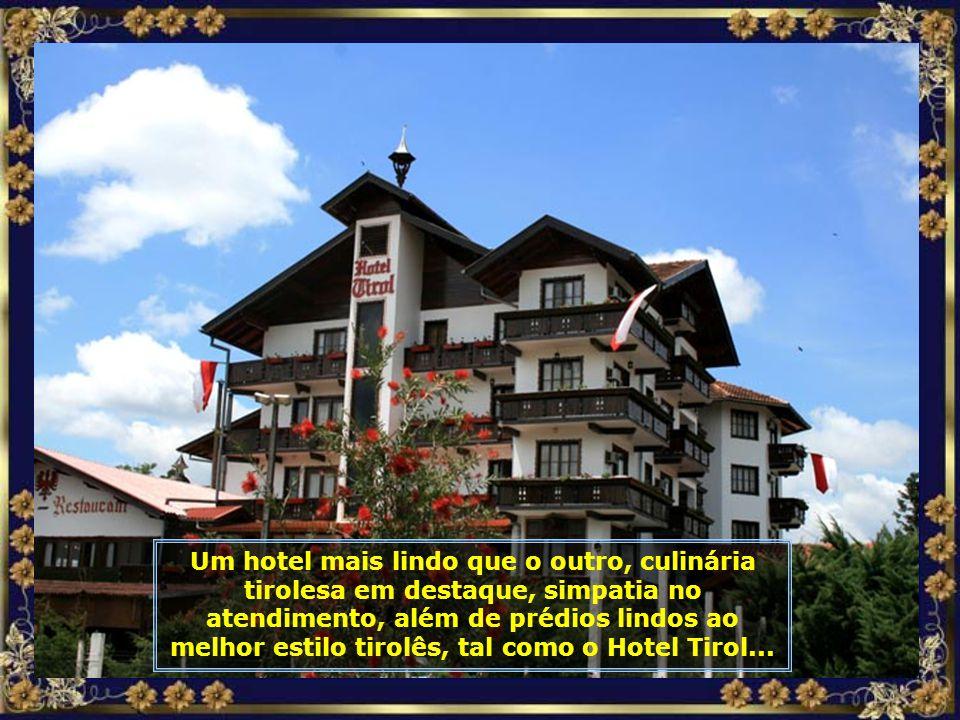 Amplos e belos hotéis atendem os hóspedes com um serviço de primeiríssima qualidade, como é o caso do Park Hotel...