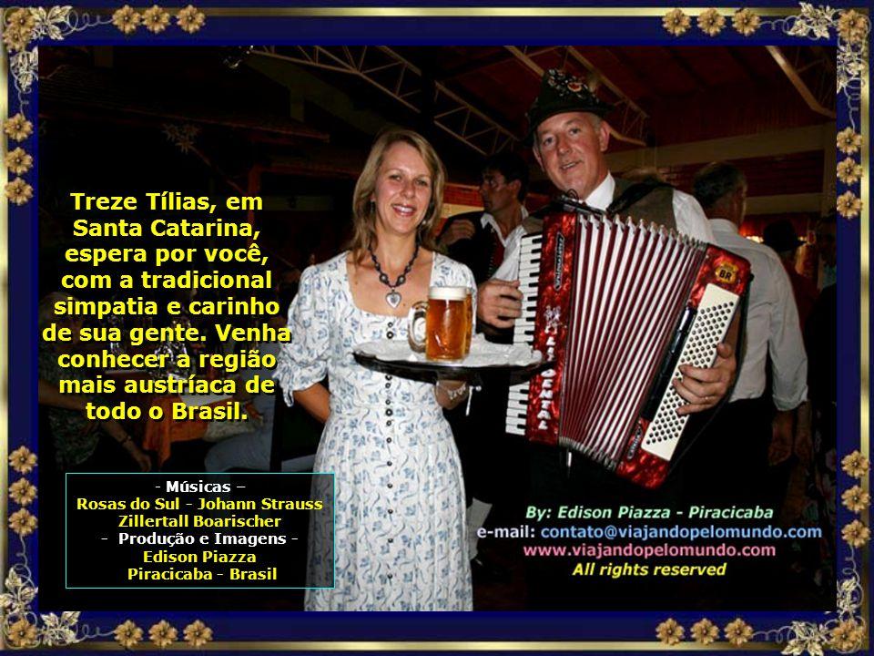 Vem você também, venha conhecer esse pedacinho da Áustria dentro do Brasil, a bela e formosa Treze Tílias, pequenina, mas acolhedora...