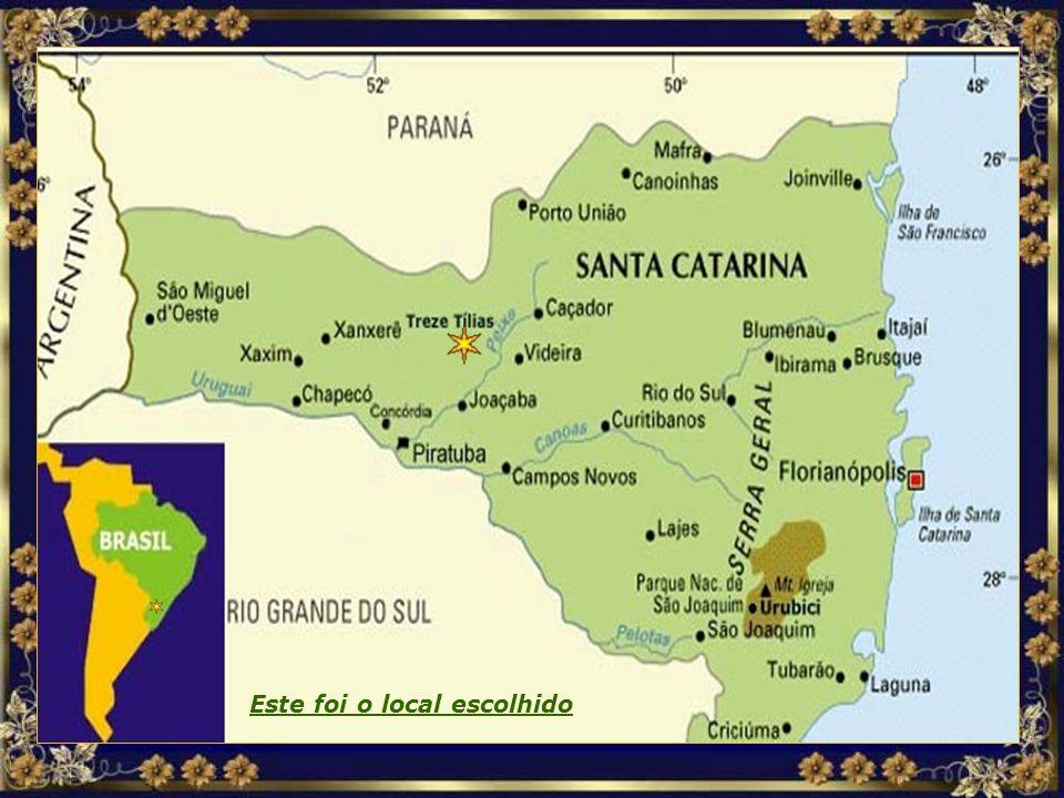 Depois de pesquisar vários países sul- americanos, a decisão recaiu sobre o interior do Estado de Santa Catarina, no Brasil, dada a beleza da região e