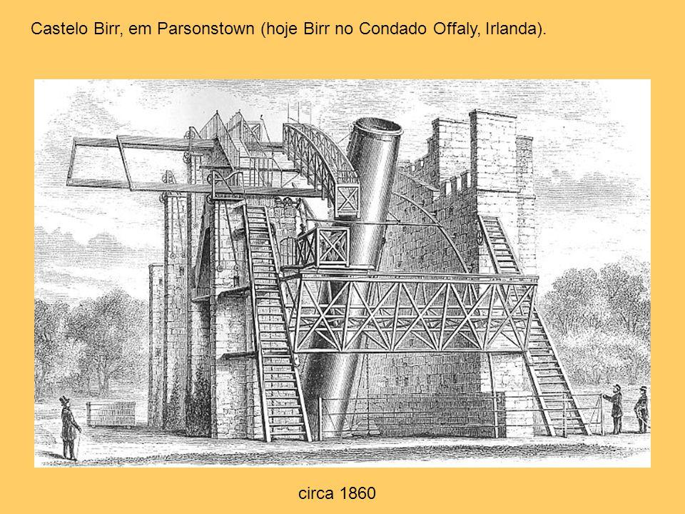 Castelo Birr, em Parsonstown (hoje Birr no Condado Offaly, Irlanda). circa 1860