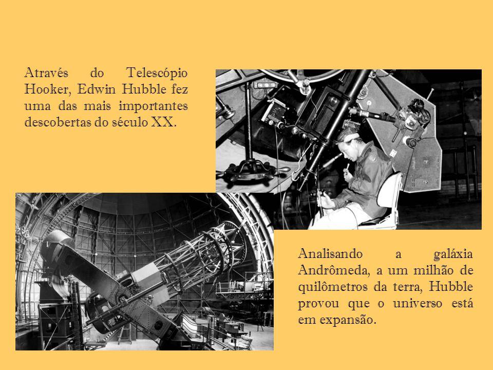 Através do Telescópio Hooker, Edwin Hubble fez uma das mais importantes descobertas do século XX. Analisando a galáxia Andrômeda, a um milhão de quilô